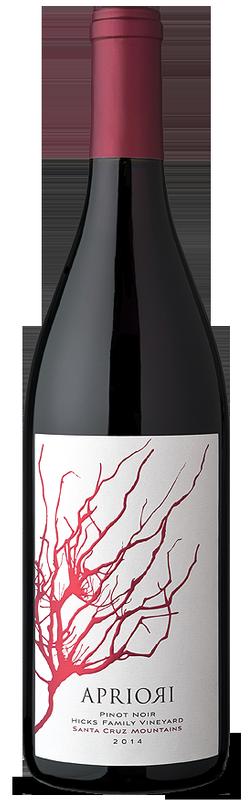 Apriori Cellar Apriori Pinot Noir - Hicks Family Vineyard - Santa Cruz Mountains Bottle Preview