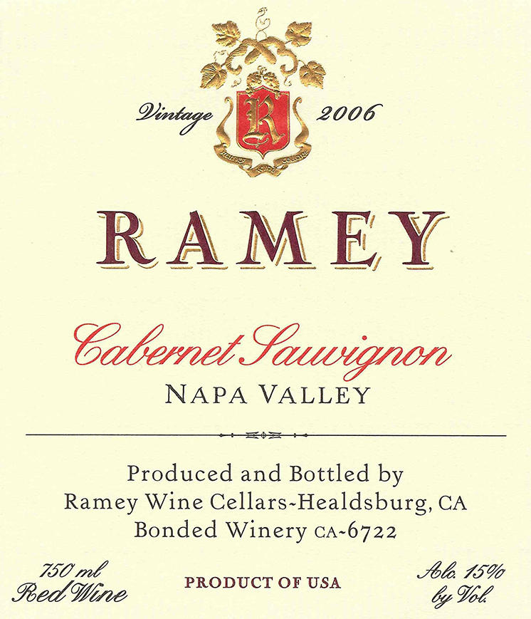 Cabernet Sauvignon, Napa Valley Bottle
