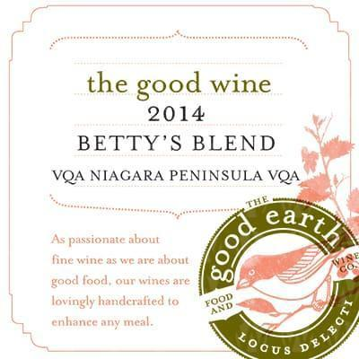 The Good Earth Vineyard and Winery Betty's Blend
