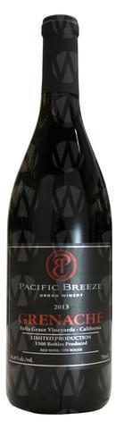 Pacific Breeze Winery Grenache