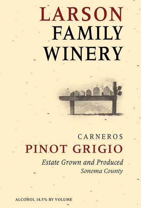 Larson Family Winery Larson Family Pinot Grigio Bottle Preview