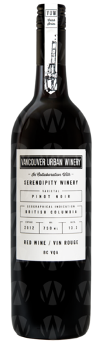 Vancouver Urban Winery Pinot noir In Collaboration With Serendipity Winery
