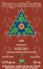 Frogpond Farm Organic Winery Riesling