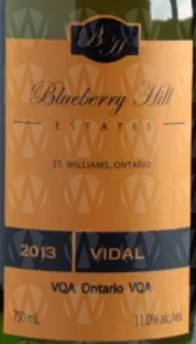 Blueberry Hill Estates Winery Vidal