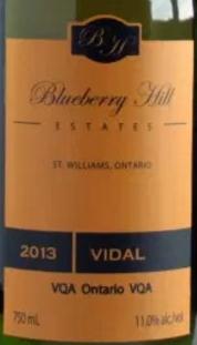 Blueberry Hill Estates Winery Vidal