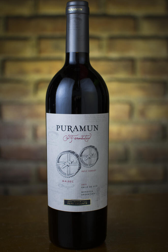 Puramun For this Puramun we hand picked Malbec and Petit Verdot grapes at the same time and Co-fermented them together as a single lot. With 12 month in french oak barrels Bottle Preview
