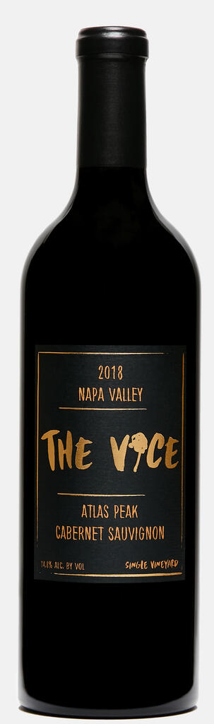 """The Vice Napa Valley Wines Batch #39 """"Carly & Kenny"""", Cabernet Sauvignon, Atlas Peak, Napa Valley, 2018 Bottle Preview"""