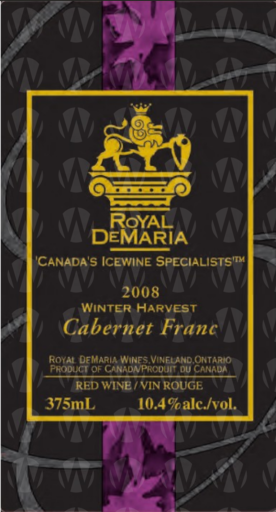 Royal DeMaria Wines Winter Harvest Cabernet Franc