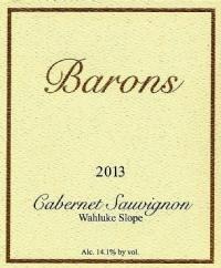 Barons Winery Cabernet Sauvignon, Rosebud Vineyard - Wine Club Bottle Preview
