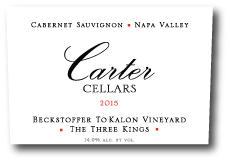 Carter Cellars Beckstoffer To Kalon 'The Three Kings' Cabernet Sauvignon Bottle Preview
