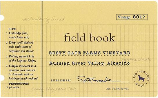 Spottswoode Estate Vineyard & Winery Field Book Albariño Bottle Preview