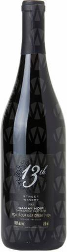 13th Street Winery Gamay Noir Sandstone Vineyard