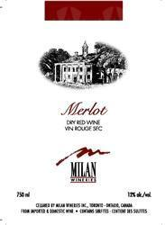 Milan Wineries Merlot