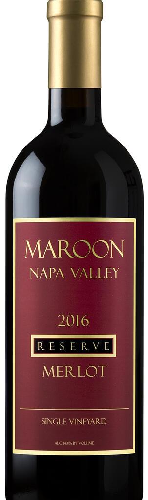 Maroon Wines Reserve Merlot Bottle Preview