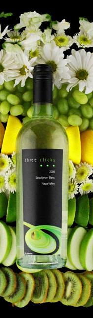 Three Clicks Wines Sauvignon Blanc Bottle Preview