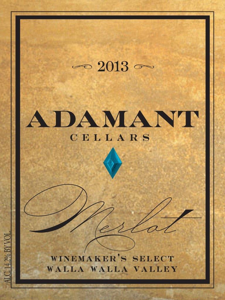 Adamant Cellars Winemaker's Select Merlot Bottle Preview