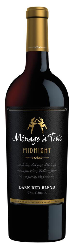 Ménage à Trois Wines Ménage à Trois Midnight Dark Red Blend Bottle Preview