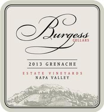 Burgess Cellars Grenache Bottle Preview