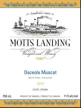 Motts Landing Estate Winery Osceola Muscat