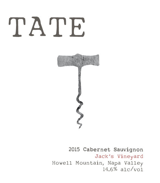 Tate Wines HOWELL MOUNTAIN CABERNET SAUVIGNON Bottle Preview