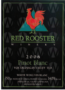 Red Rooster Winery Classic Pinot Blanc