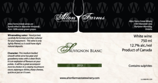Alton Farms Estate Winery Sauvignon Blanc
