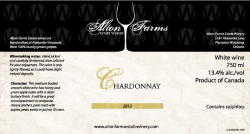 Alton Farms Estate Winery Chardonnay
