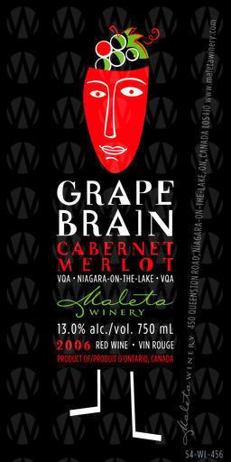 Maleta Estate Winery Grape Brain Cabernet - Merlot
