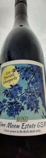 Los Rocosos Vineyards Nine Moon 2018 Estate GSM Bottle Preview