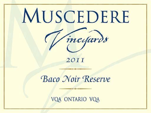 Muscedere Vineyards Baco Noir Reserve