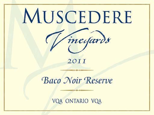 Muscedere Vineyards Baco Noir Reserve