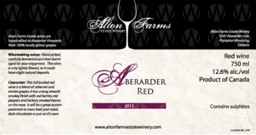 Alton Farms Estate Winery Aberarder Red