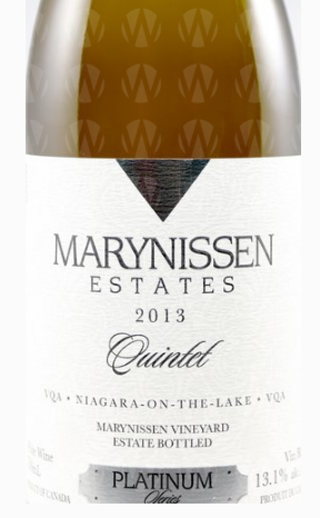 Marynissen Estates Winery Platinum Series Quintet