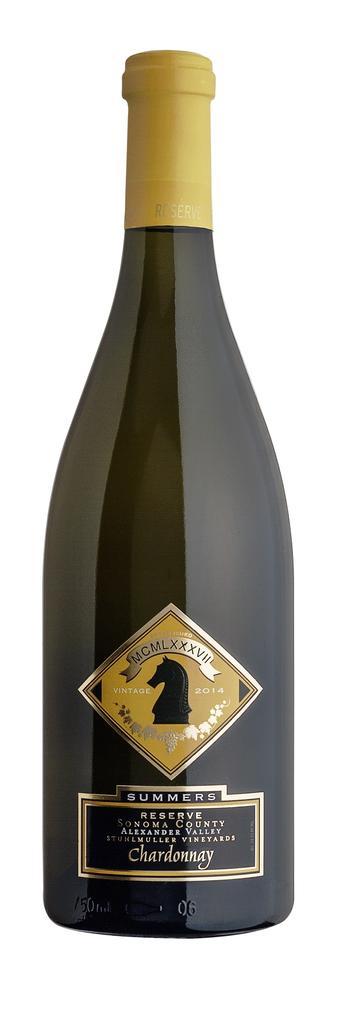 Summers Estate Wines Alexander Valley Reserve Chardonnay Bottle Preview