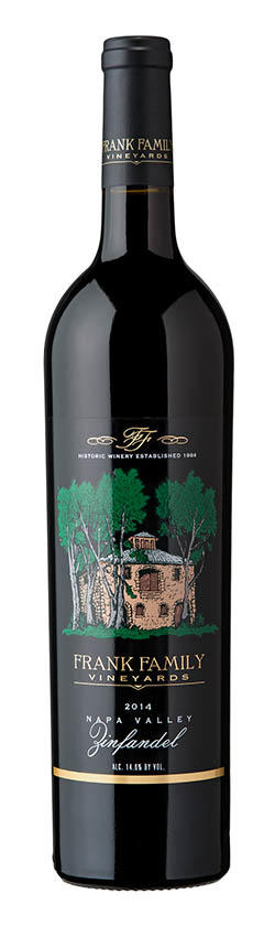 Frank Family Vineyards Napa Valley Zinfandel Bottle Preview