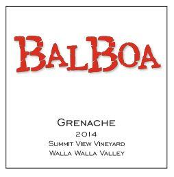 Balboa Winery Grenache Bottle Preview
