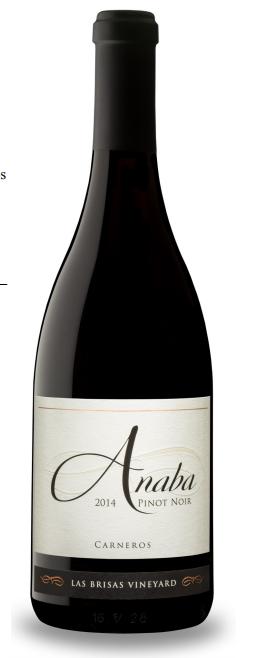 Anaba Wines Pinot Noir, Las Brisas Vineyard Bottle Preview