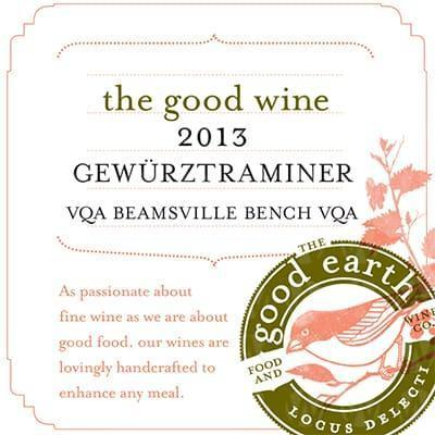 The Good Earth Vineyard and Winery Gewürztraminer