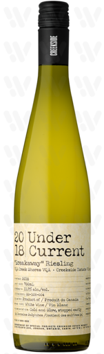 "Creekside Estate Winery UNDER CURRENT ""BREAKAWAY"" RIESLING"