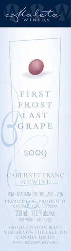 Maleta Estate Winery Cabernet Franc Icewine