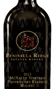Peninsula Ridge Estates Winery McNally Vineyards Reserve Malbec