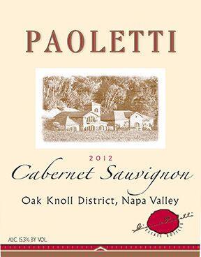 Paoletti Estates Winery Cabernet Sauvignon Bottle Preview