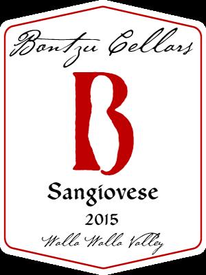 Bontzu Cellars Sangiovese Bottle Preview