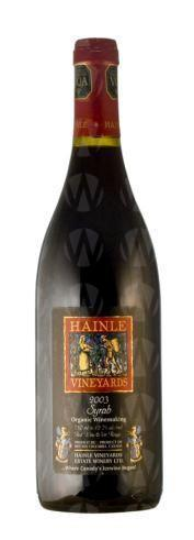 Hainle Vineyards Syrah