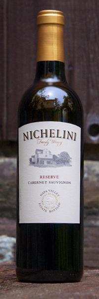 Nichelini Family Winery Reserve Cabernet Sauvignon Bottle Preview