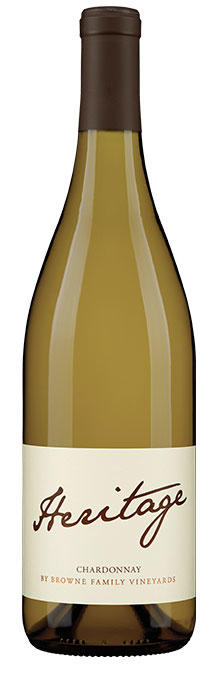 Browne Family Vineyards Heritage Chardonnay Bottle Preview