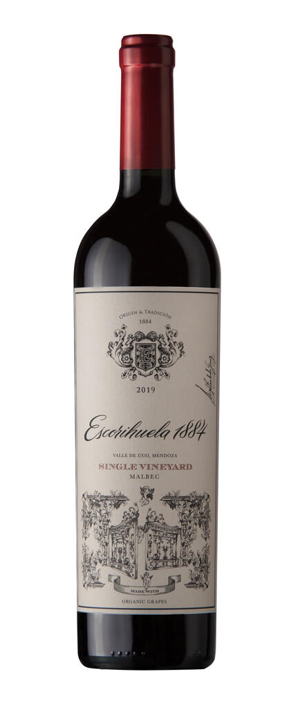 Escorihuela 1884 Single Vineyard - Organic Grapes Malbec Bottle