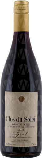 Grower's Series Grower's Series Middle Bench Vineyard Syrah