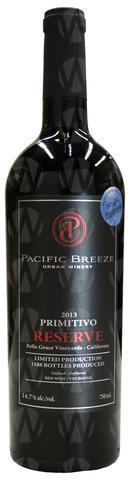 Pacific Breeze Winery Reserve Primitivo