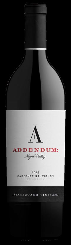 Addendum Addendum Stagecoach Vineyard Cabernet Sauvignon Bottle Preview